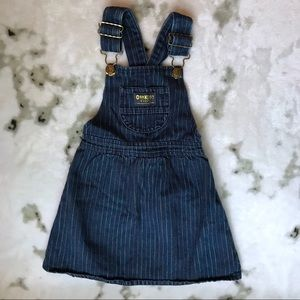2/$25 Vintage OshKosh B'gosh Denim Overall Dress